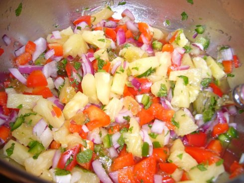 Looks like a pineapple salsa but it's a really cure for cancer!
