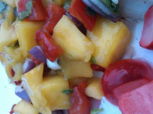 raw mango salsa is a raw summer suprema